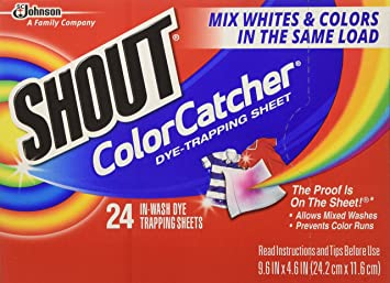 Amazon.com: Shout Color Catcher & Washer Sheets-24 ct. (Pack of 5 ...
