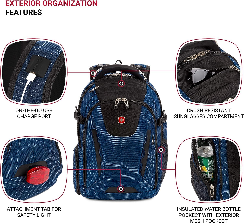 SwissGear 5358 USB ScanSmart Laptop Backpack Abrasion-Resistant /& Travel-Friendly Laptop Backpack Exclusive Bundle with Lock