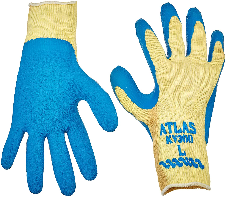Atlas KV300 Large Rubber Coated Kevlar Gloves 12 Pairs by Showa Best Glove B002D97LOE