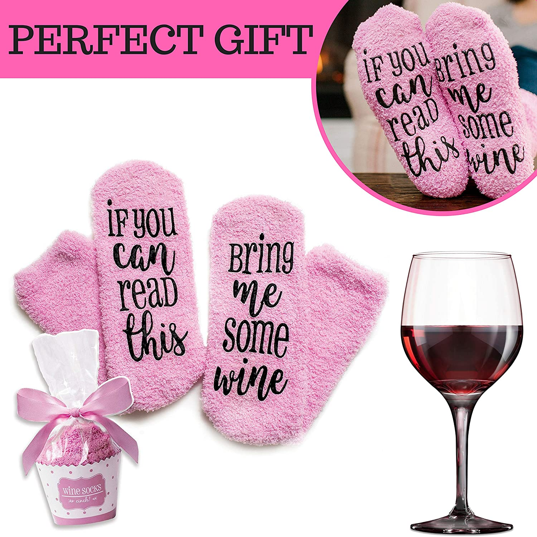 Amazon.com: Wine Socks, Gifts for Women nice and soft, Cupcake ...