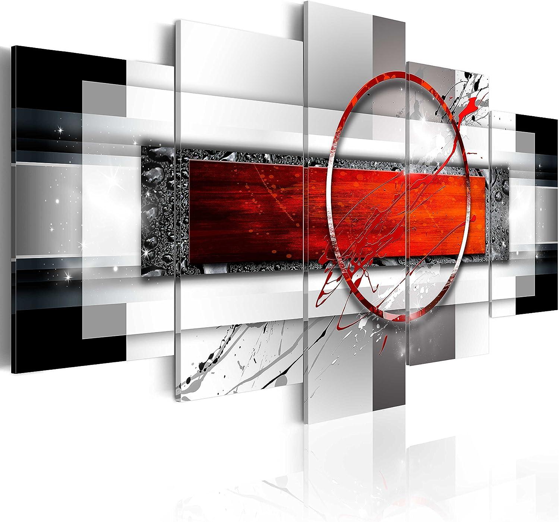murando - Cuadro en Lienzo 200x100 cm Abstracto Impresión de 5 Piezas Material Tejido no Tejido Impresión Artística Imagen Gráfica Decoracion de Pared Arte a-A-0052-b-n