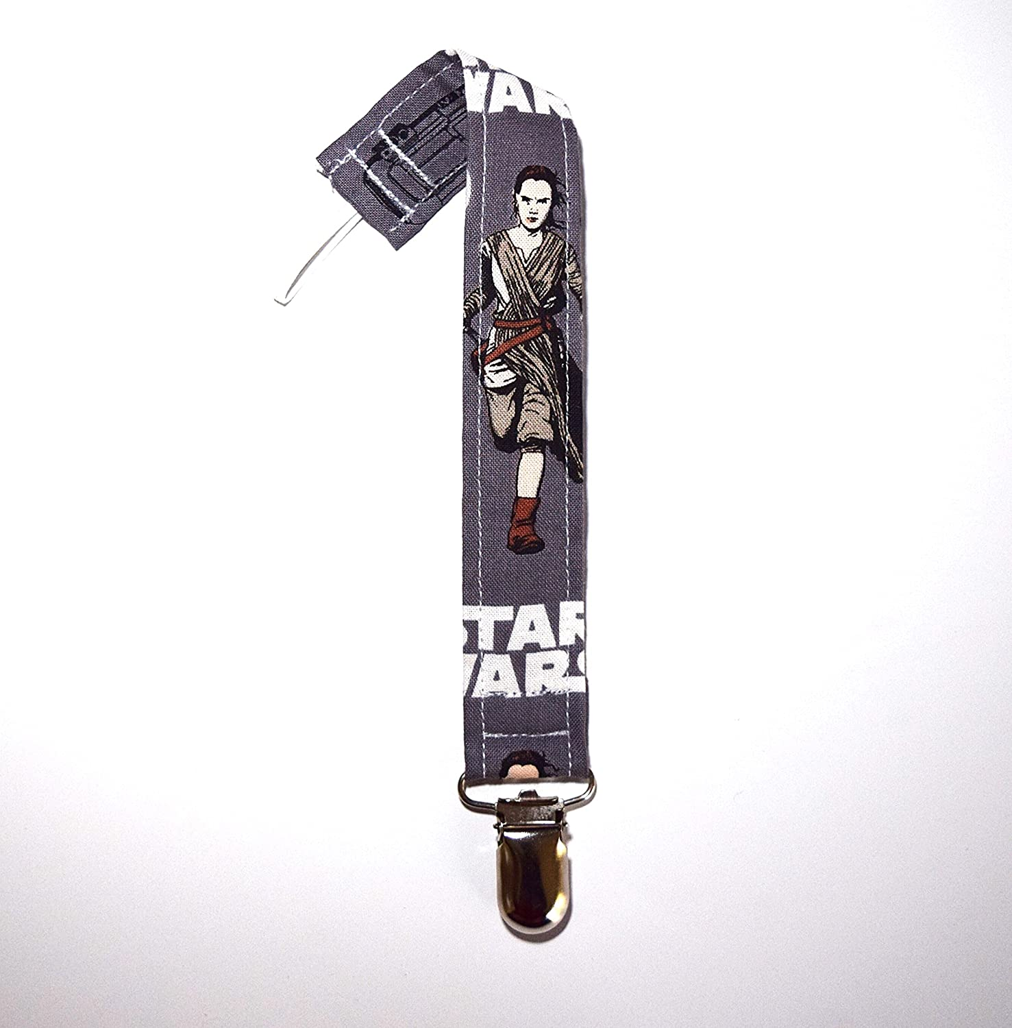 Star Wars Grey Baby Pacifier Clip Soothie Clip Binky clip Pacifier Holder Universal Pacifier Clip