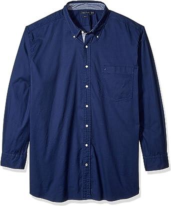 Nautica Hombre M83603 Manga Larga Camisa de botones: Amazon.es: Ropa y accesorios
