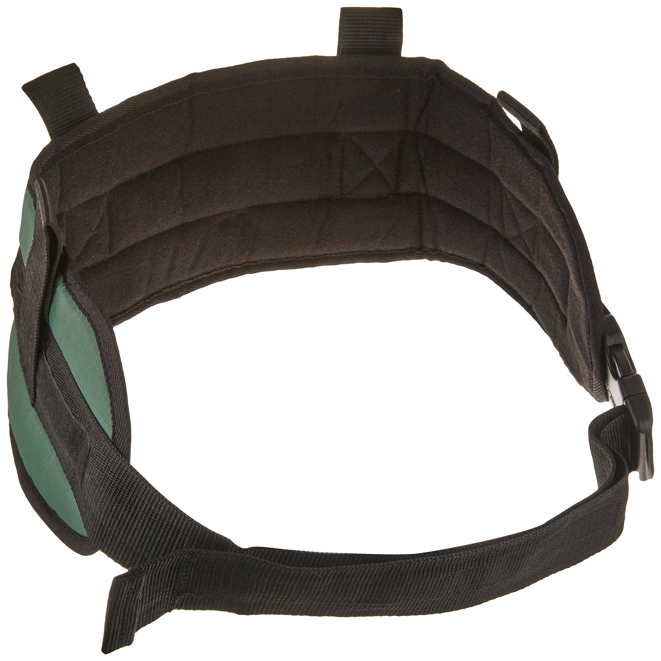 Sammons Preston Padded Gait Belt with Handles, 5.5'' Wide Transfer Belt with 4 Loops and Quick Release Buckle, Handled Limited Mobility Aid Belt for Patient Care, Green, Medium Belt Fits 28''-48'' Waist