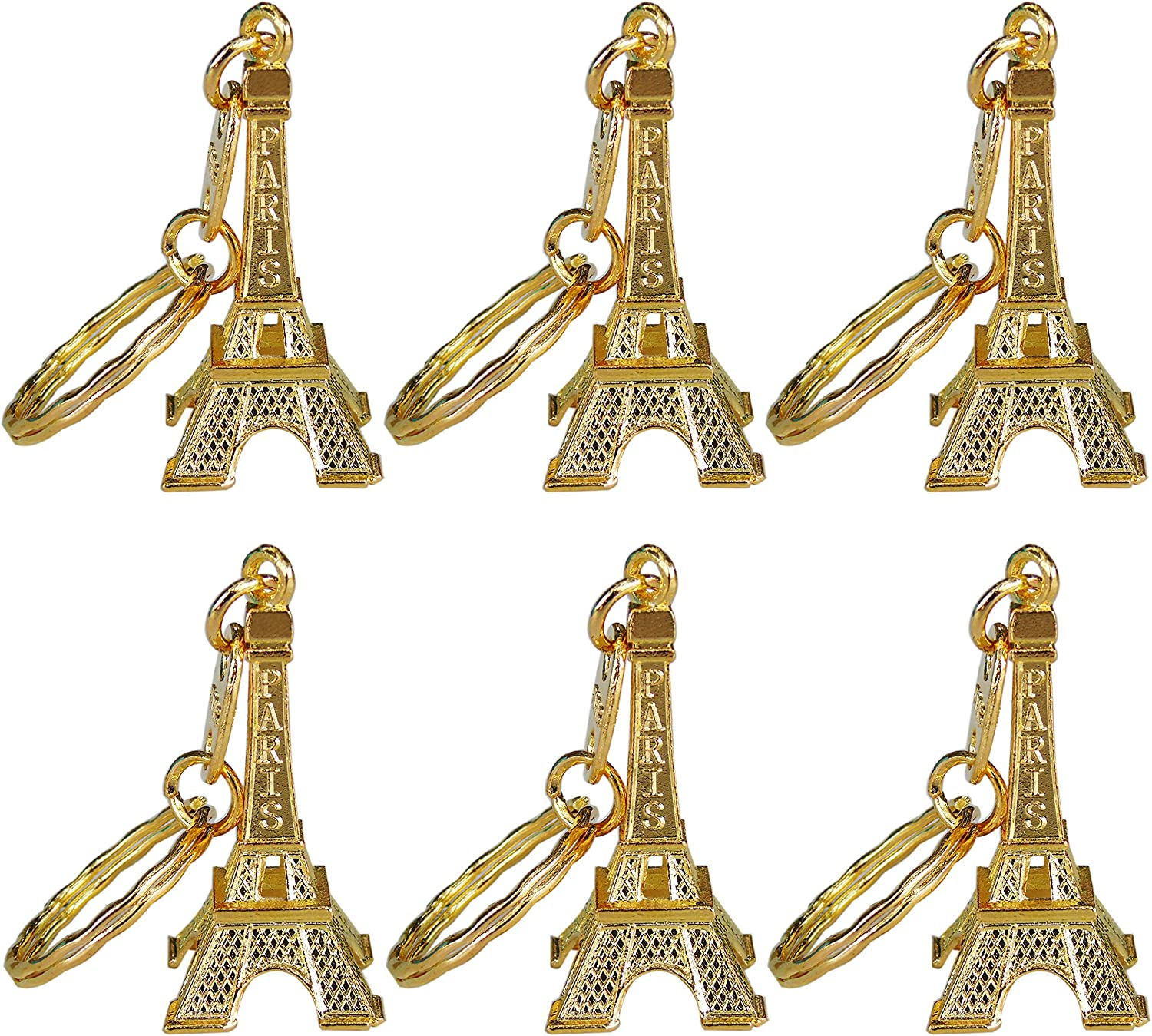 Ceeyali 20 Pcs 5cm Metal Paris Eiffel Tower Craft Art Statue Model for Table Decor,Cake Topper,Gifts,Party,Jewelry Stand Holder,Home Decoration (Gold Color 20 Pcs)