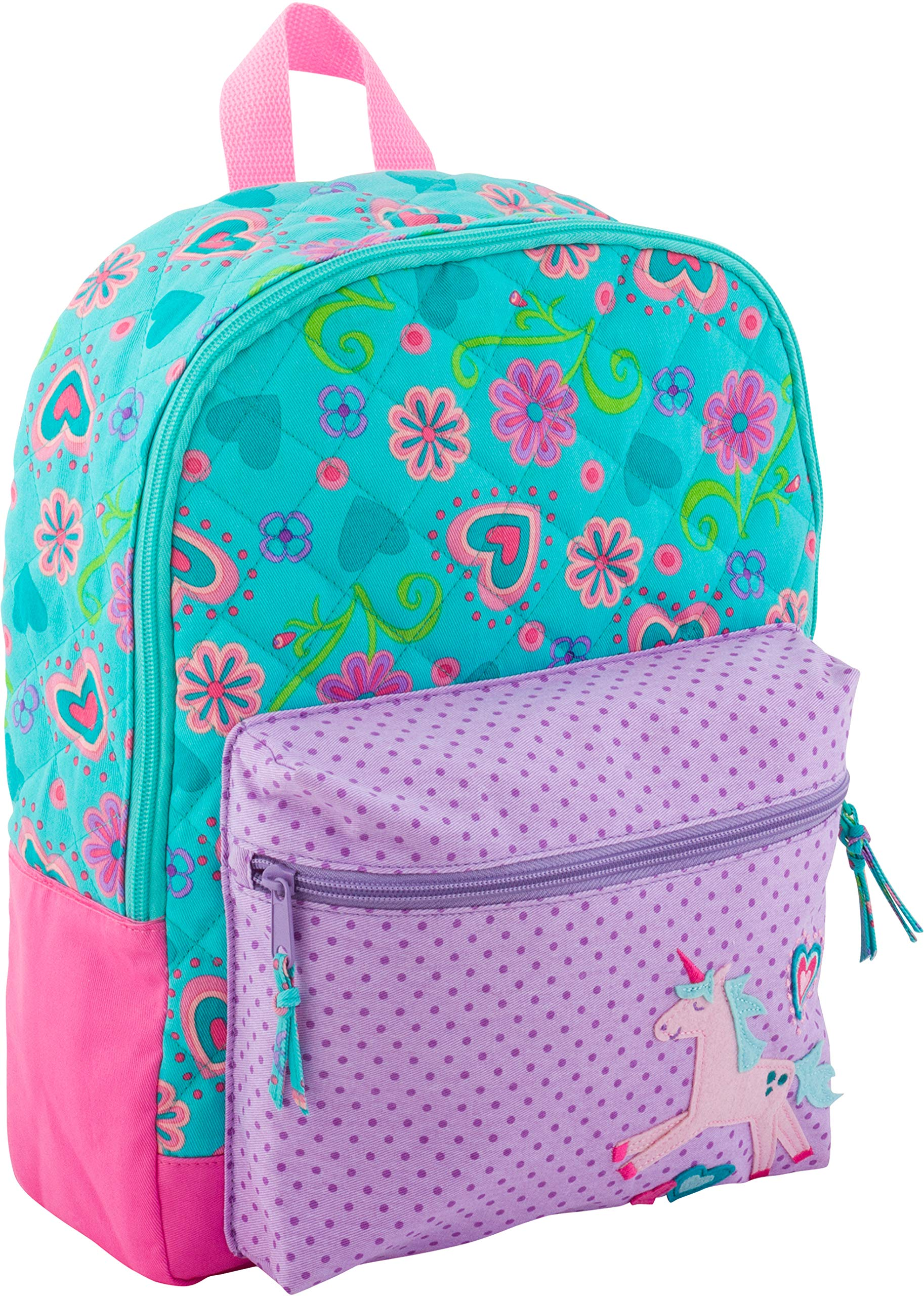 Stephen Joseph All Over Print Quilted Rucksack, Unicorn