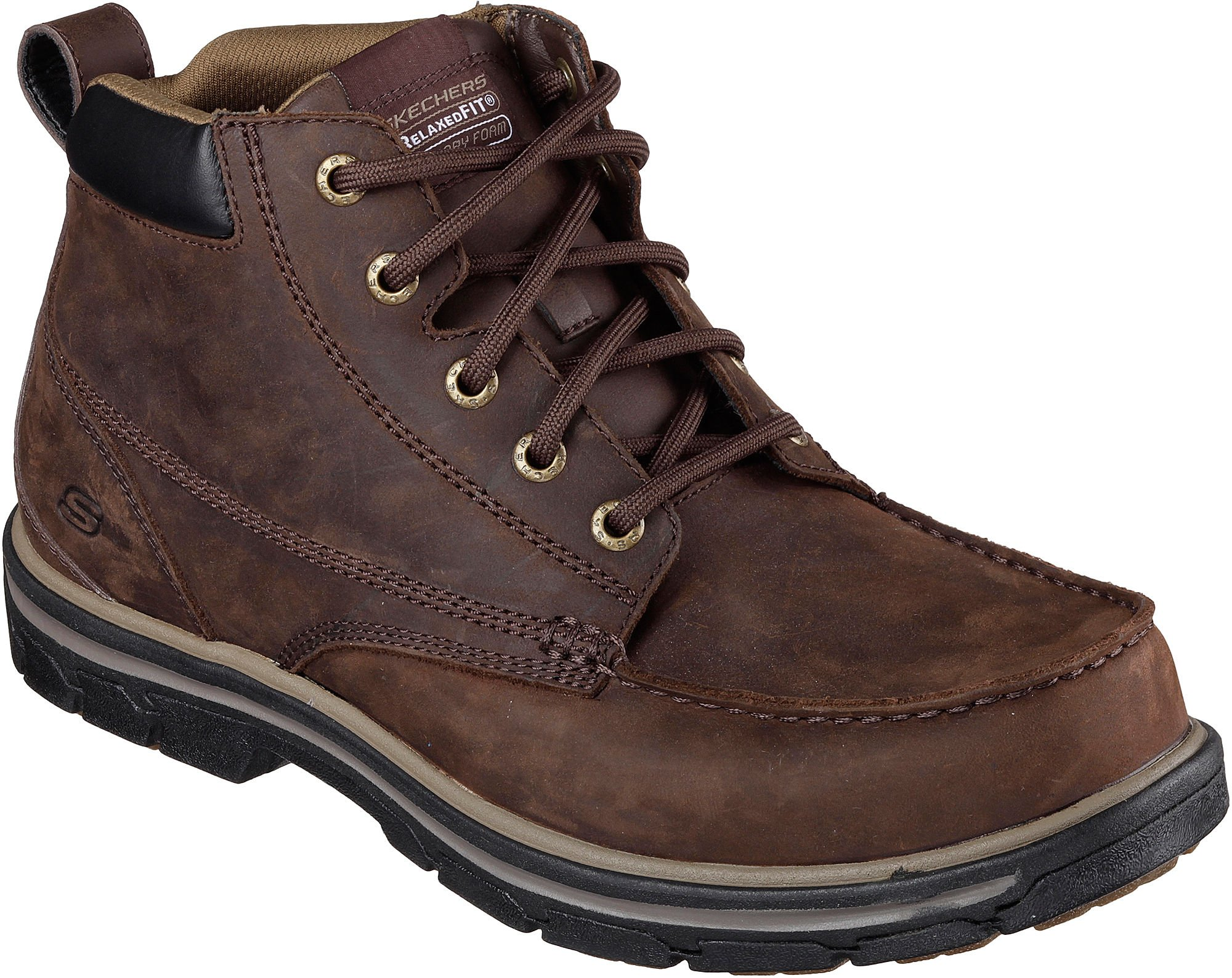 Skechers Segment-Barillo Brown Mens Ankle Hi Boot Size 10.5M