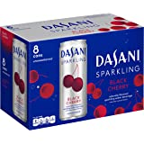 Dasani Sparkling Drinking Water, Black Cherry, 8 Count