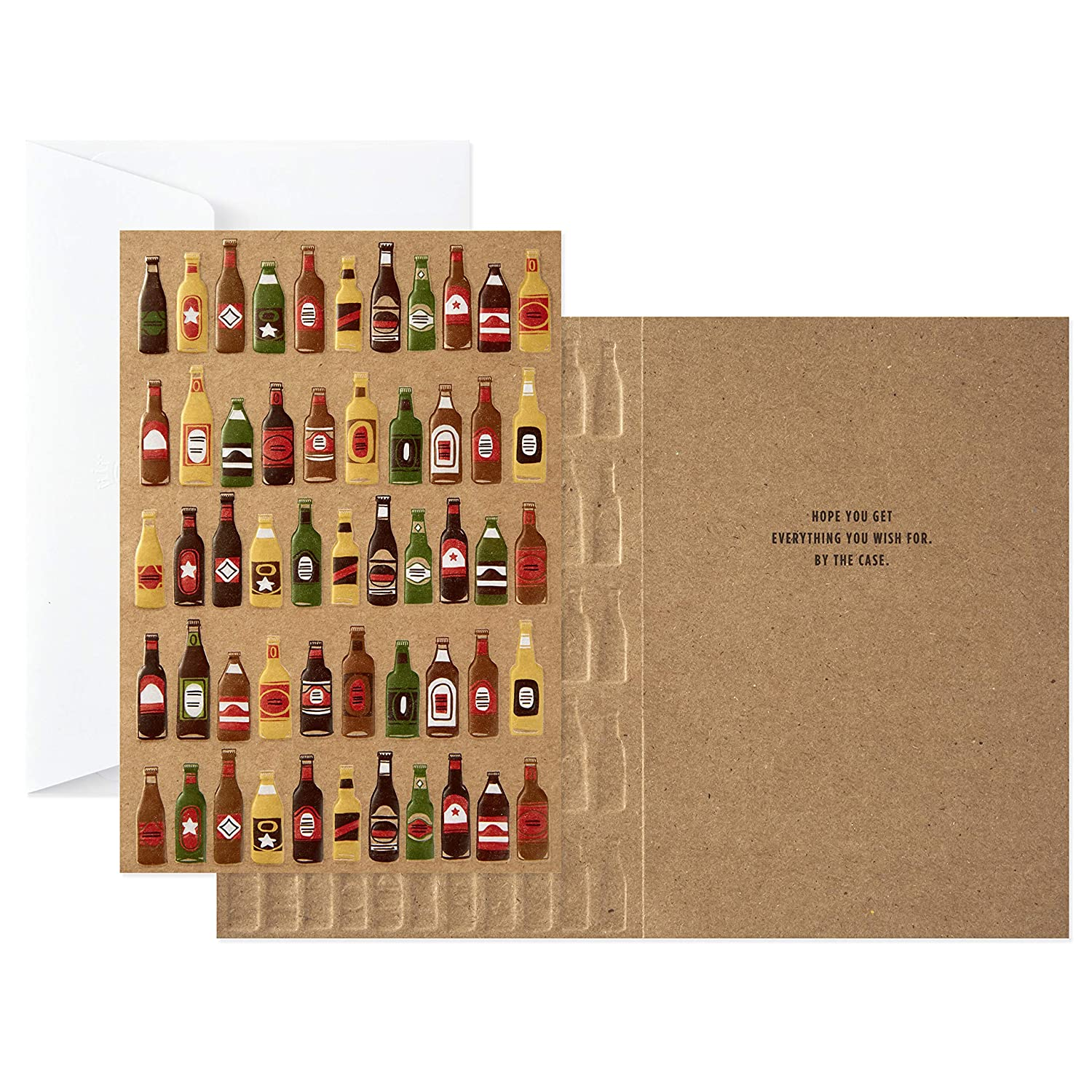 Amazon Hallmark Signature Birthday Card Beer Bottles