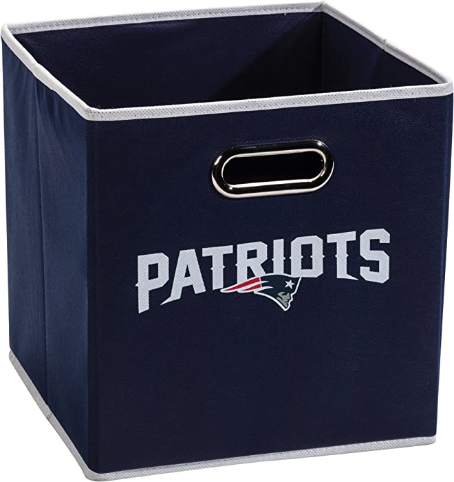 "Franklin Sports NFL Team Fabric Storage Cubes - Made To Fit Storage Bin Organizers (11x10.5x10.5"")"