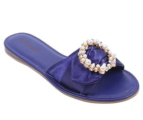 1601470daca Amazon.com | weyoh Bamboo Flip-Flop Slip-on Open Toe Flats Sandals ...