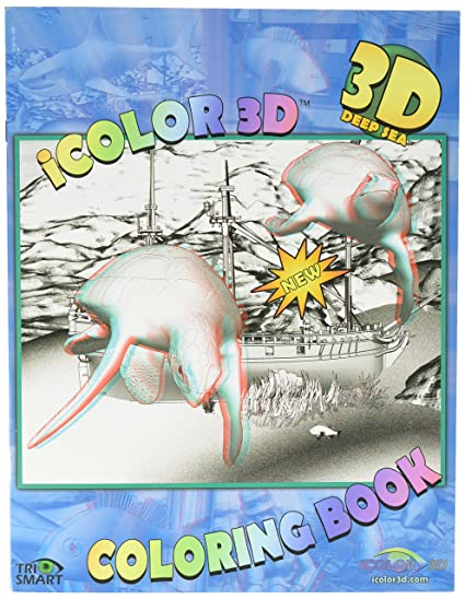 Amazon.com: iColor 3D Deep Sea Coloring Book -- 3D Glasses Included ...