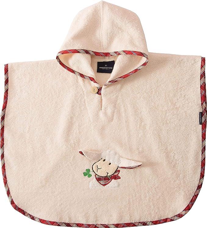 Morgenstern - Poncho infantil con capucha y bordado de oveja ...