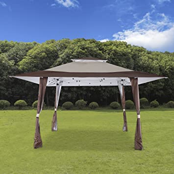 Cloud Mountain 13u0027 X 13u0027 Pop Up Canopy Outdoor Yard Patio Double Roof Easy