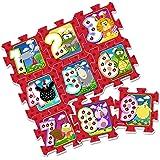 Stamp - Tp674001 - Puzzle De Sol - TAPIS MOUSSE - J'apprends Les Chiffres En M'amusant - Tapis Mousse - 88 X 88 X 1,5 Cm - 9 Pièces