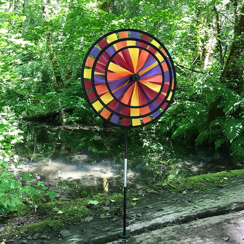 In the Breeze Triple Wheel Patriotic Garden Spinner