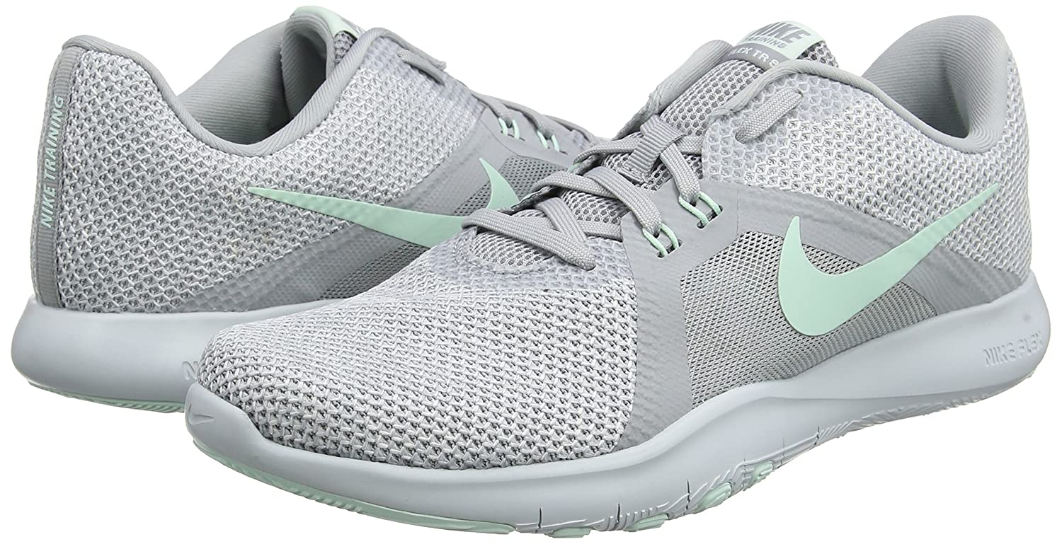 NIKE Women's Flex 8 Cross Trainer B0761YD8S2 6.5 M US|Wolf Grey/Igloo - White - Pure Platinum