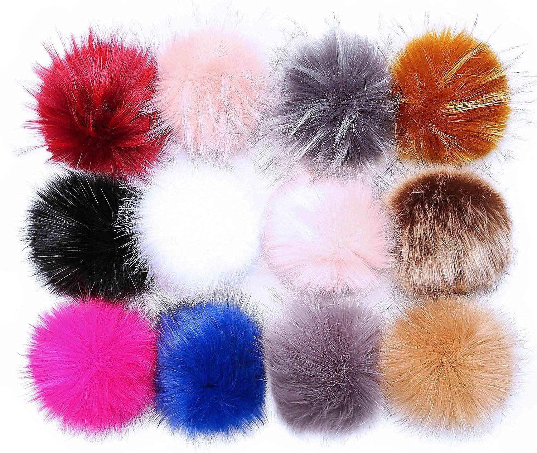 Amazon.com  Pom Poms for Hats Bulk Pom Poms Faux Fur Pom Pom Balls for Hats  Pompoms for Hats  Arts 9547bd81296