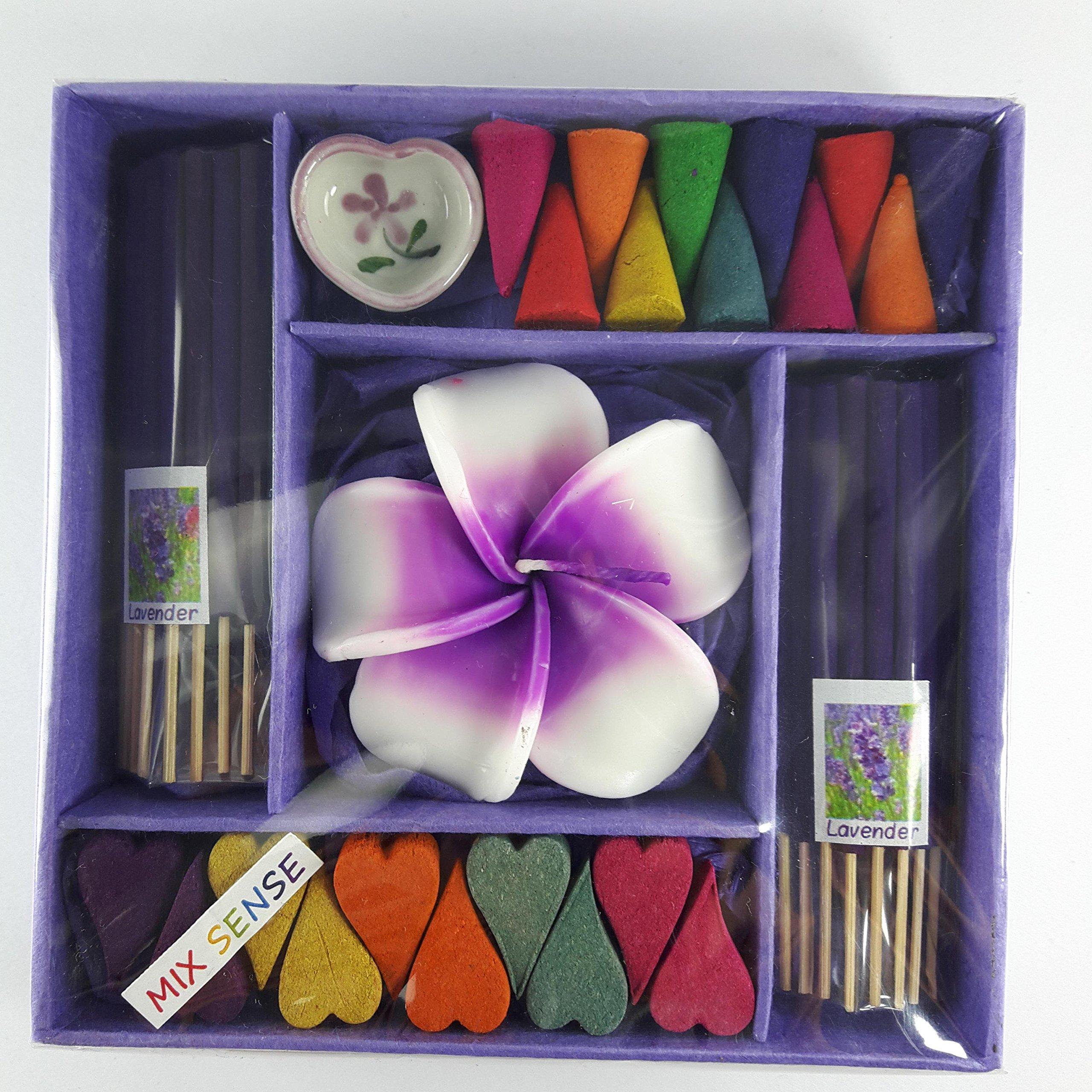 kornkorn87 Incense Spa Aroma Fragrance Cones Burner Holder Thai Scent Relax Sticks Ceramic Home Gift