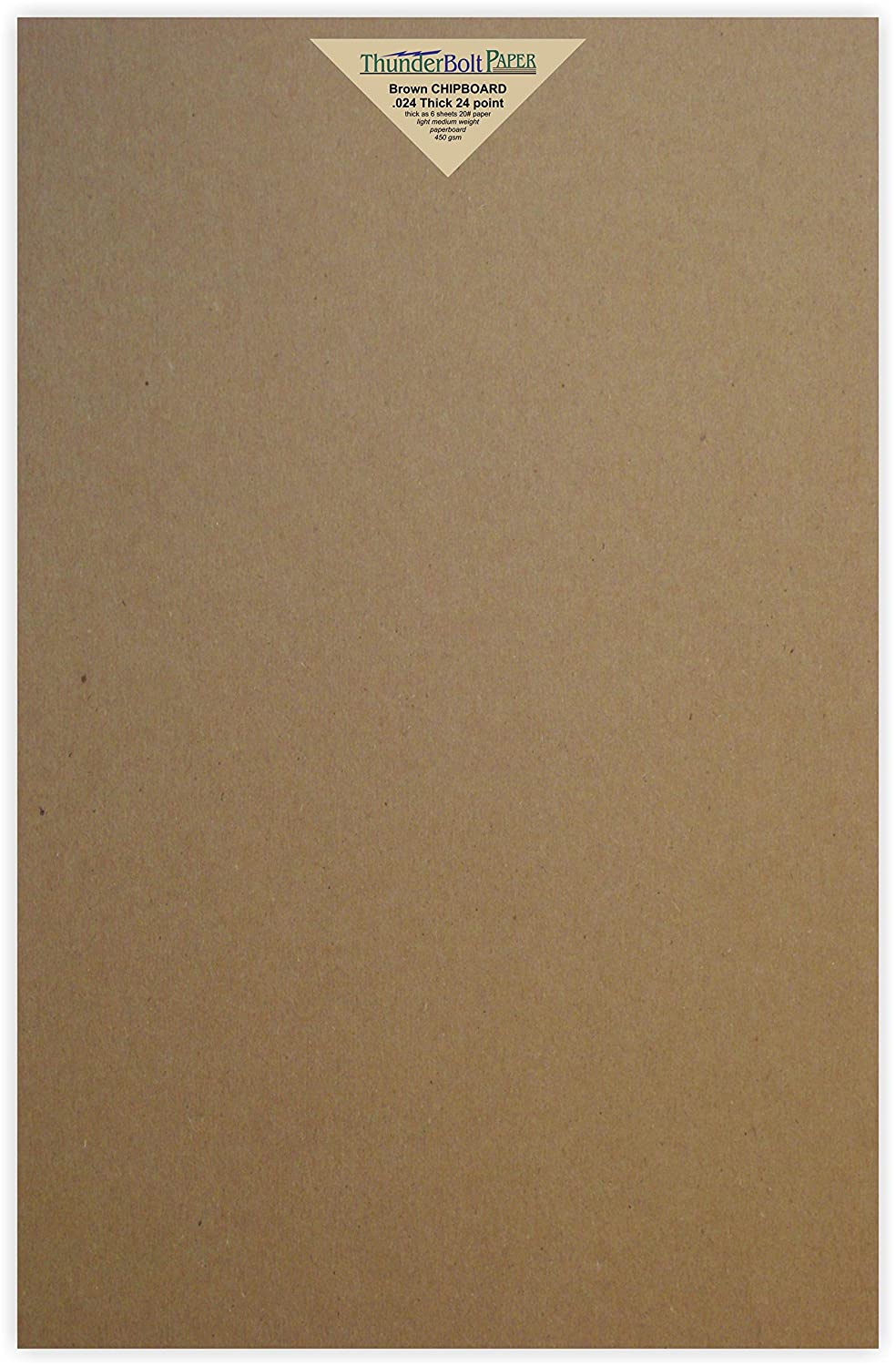 50 Sheets Chipboard 24pt (point) 11 X 17 Inches Light Medium Weight Tabloid Size .024 Caliper Thick Cardboard Craft Packaging Brown Kraft Paper Board TBP 4336978462