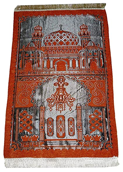 Istanbul Islamic Prayer Rug Islam Sajadah Lightweight Mat Carpet Masjid Design Muslim Gift Orange