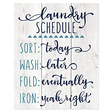 MRC Wood Products Laundry Schedule Funny Wall Sign 12x15