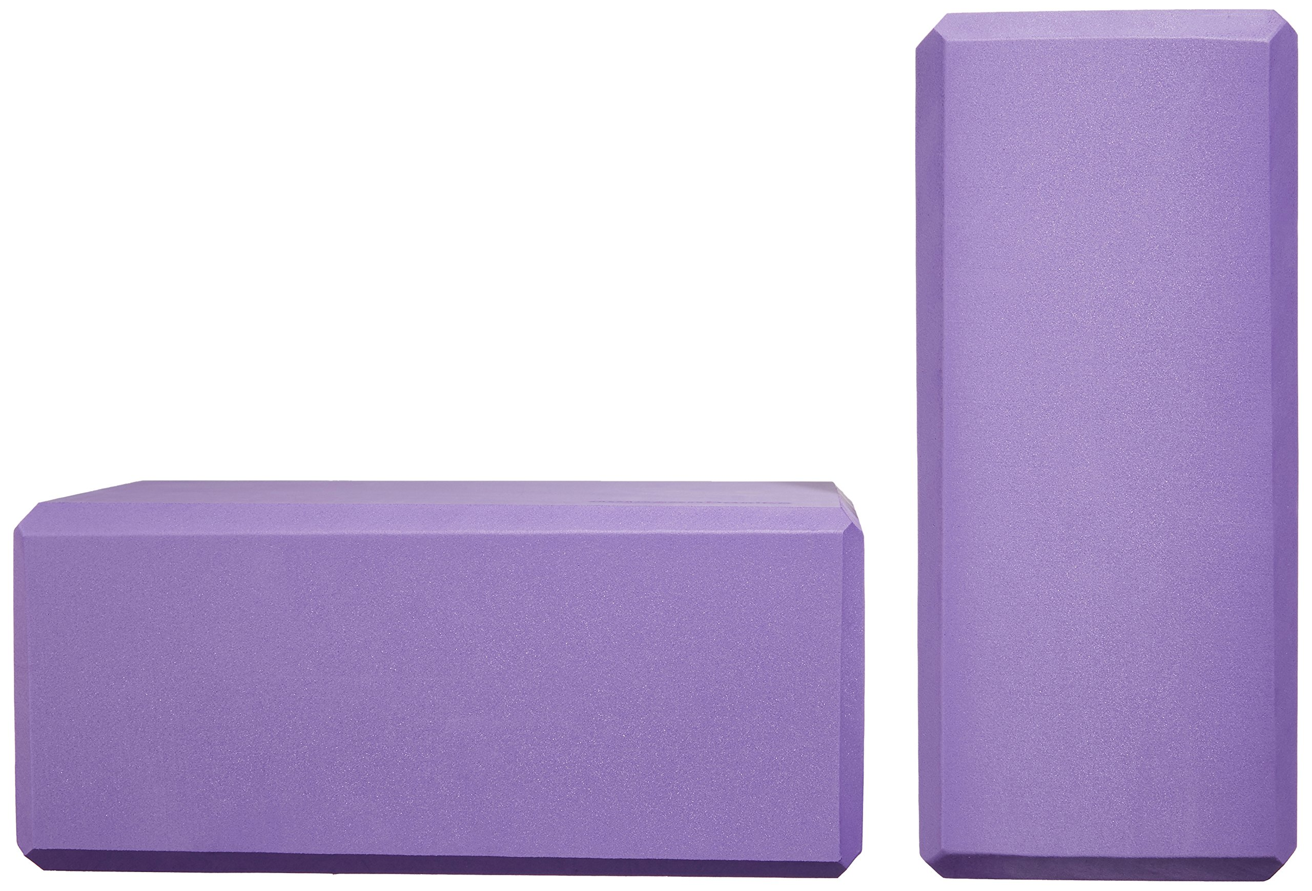 AmazonBasics Foam Yoga Blocks - 4 x 9 x 6 Inches, Set of 2, Purple by AmazonBasics (Image #5)