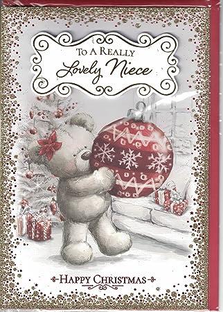 Merry Christmas Niece.Niece Christmas Card To A Very Special Niece Christmas Wishes Santa Bear Bunting Quality Xmas Card