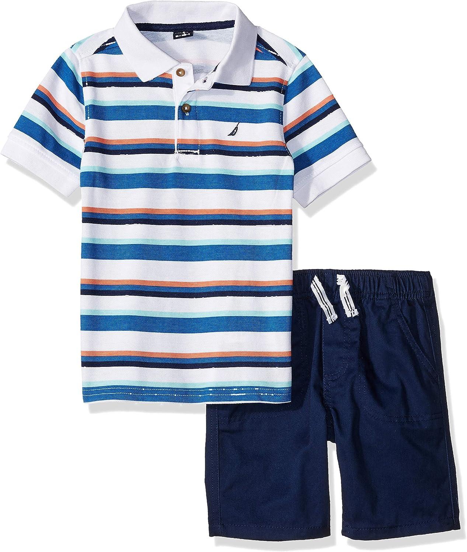 Nautica Boys 2 Pieces Polo Shorts Set