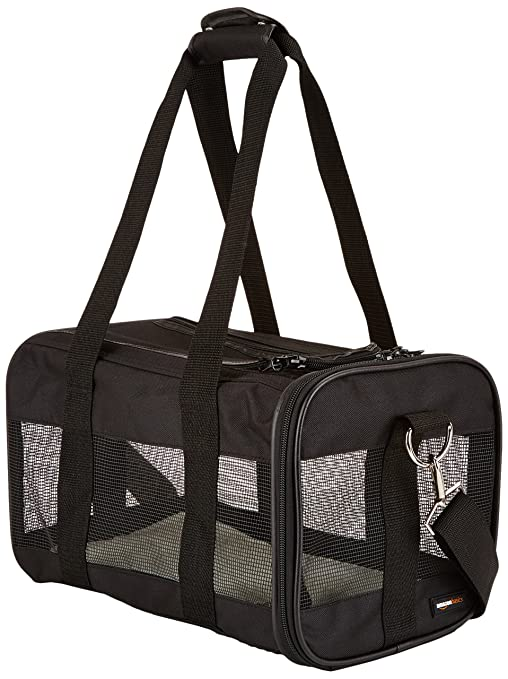 1be9b984d48 Amazon.com   AmazonBasics Black Soft-Sided Pet Carrier - Small   Pet ...