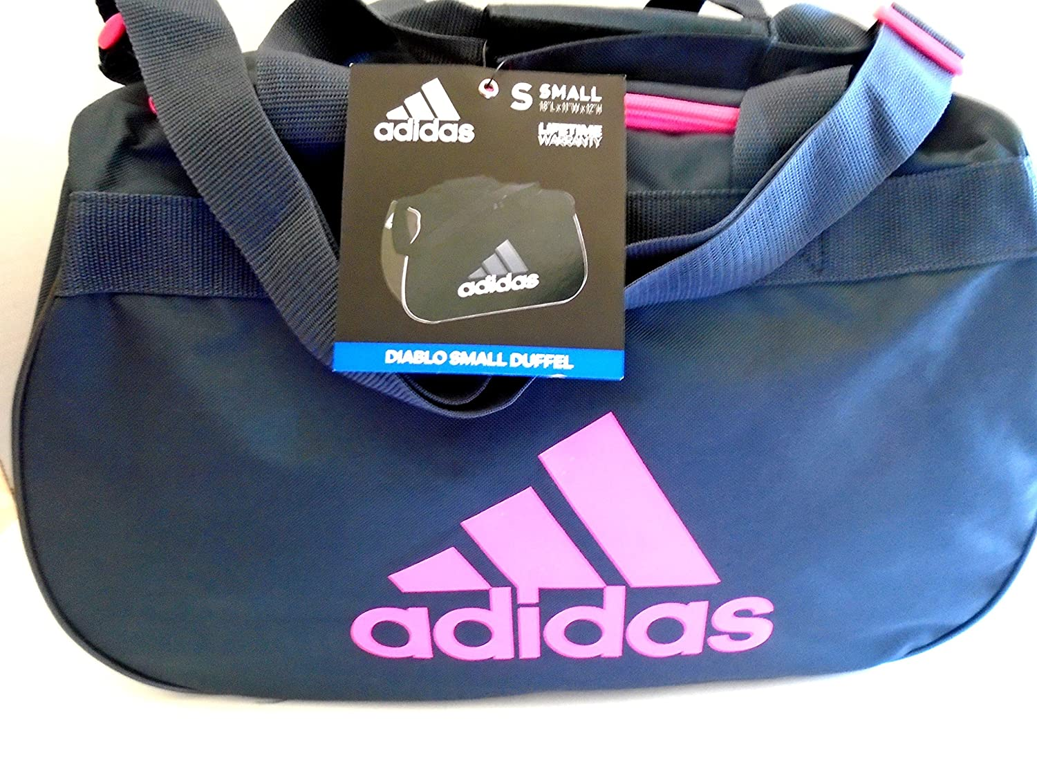 e8587fab5ccd adidas Diablo II Gear Up Small Gym Travel All Sports Gear Duffle Bag  (Mercury Grey Solar Pink Logo)  Amazon.co.uk  Sports   Outdoors