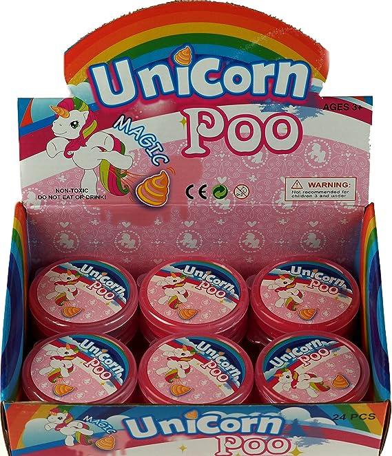 Juego de 12 Unicornio Caca con Purpurina Botes de Limo - Relleno Piñata: Amazon.es: Juguetes y juegos