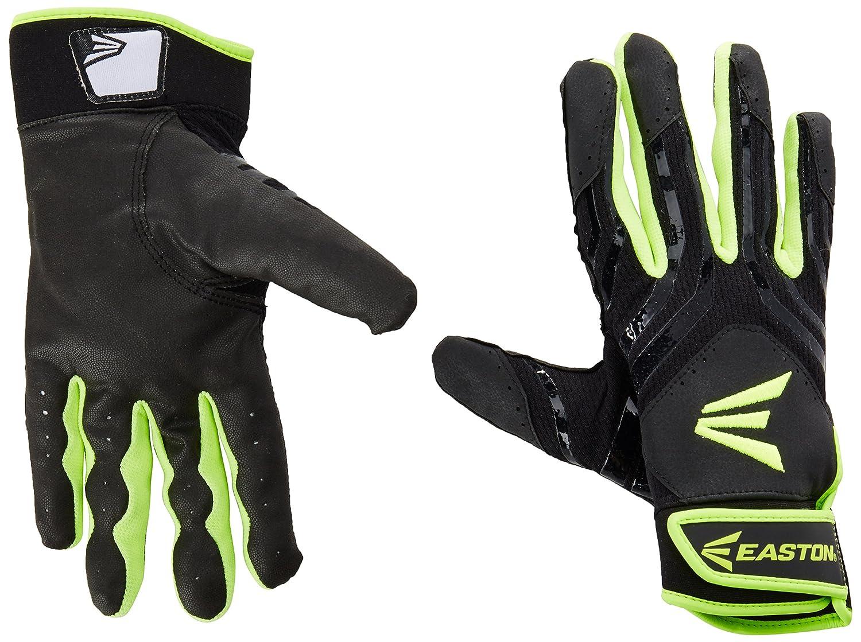 イーストンHyperskin hf7 Fastpitchバッティング手袋 B010MSR2UK Large|Black/OP Black/OP Large