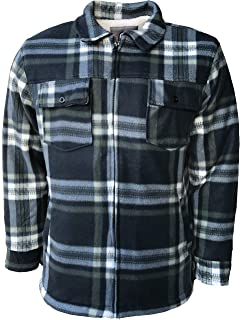37d304ebf6 Mens Padded Shirts Lumberjack Hooded Flannel Check Jacket Thick Quilted  Work Wear Warm Thermal Fleece Fur
