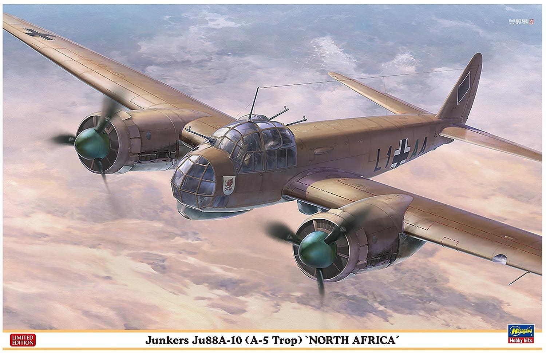 Hasegawa hjt07440 1: 48 Escala Junkers ju88 a-10 A-5 trop Norte de áfrica Modelo Edificio Kits