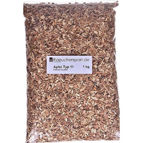Räucherspäne Apfelholz Typ 11 grobe Späne Spangröße 4-6mm aromatischer Rauch zur Verwendung im Räucherschrank auf dem Grill in der Smokerbox und beim Barbecue