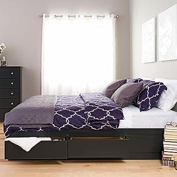 Nice Black King Mateu0027s Platform Storage Bed With 6 Drawers