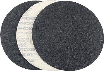 "6/"" Blue Zirconia Cloth Hook and Loop Sanding Discs 25 Pack, 36 Grit"