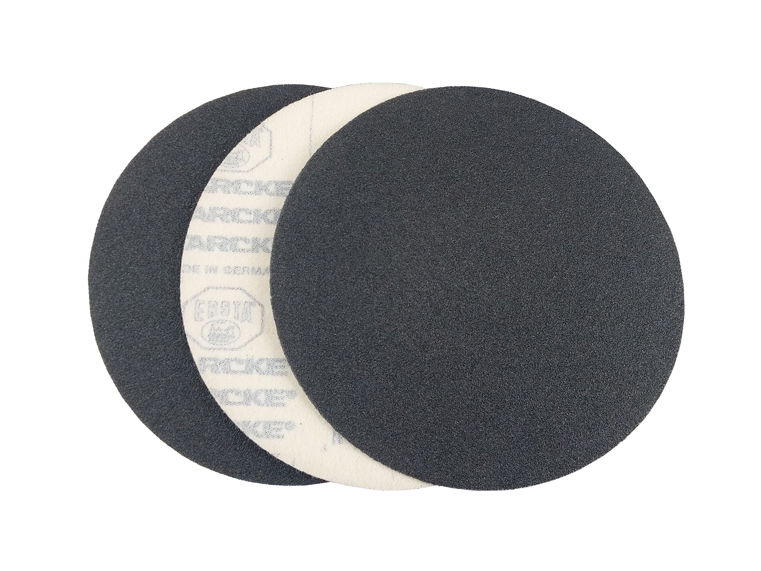 7'' Black Heavy Duty Hook and Loop Grip Sanding Discs (50 Pack, 80 Grit)