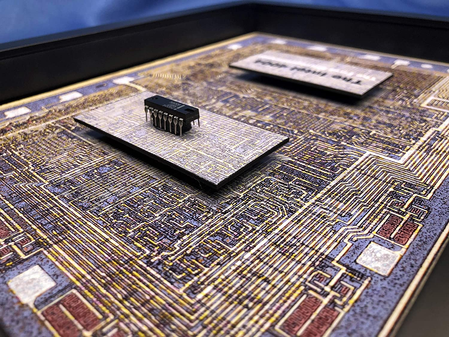 Artwork with real computer chip Making of a Microprocessor ChipScapes Prints