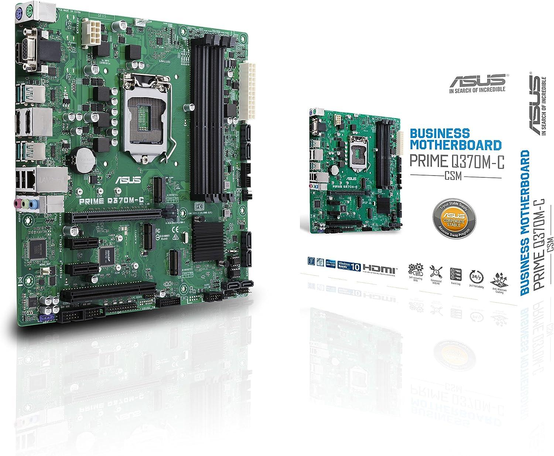 ASUS Prime Q370M-C/CSM LGA1151 (300 Series) DDR4 DP HDMI VGA SATA 6GB/s USB 3.1 Gen2 MicroATX CSM Motherboard