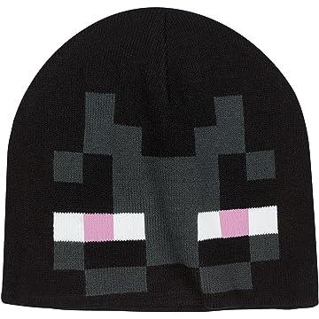 4554a174919 Amazon.com  JINX Minecraft Creeper Face Knit Beanie (Green