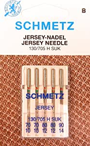 5 Schmetz Jersey universal 130/705H Suk Máquina de coser agujas ...
