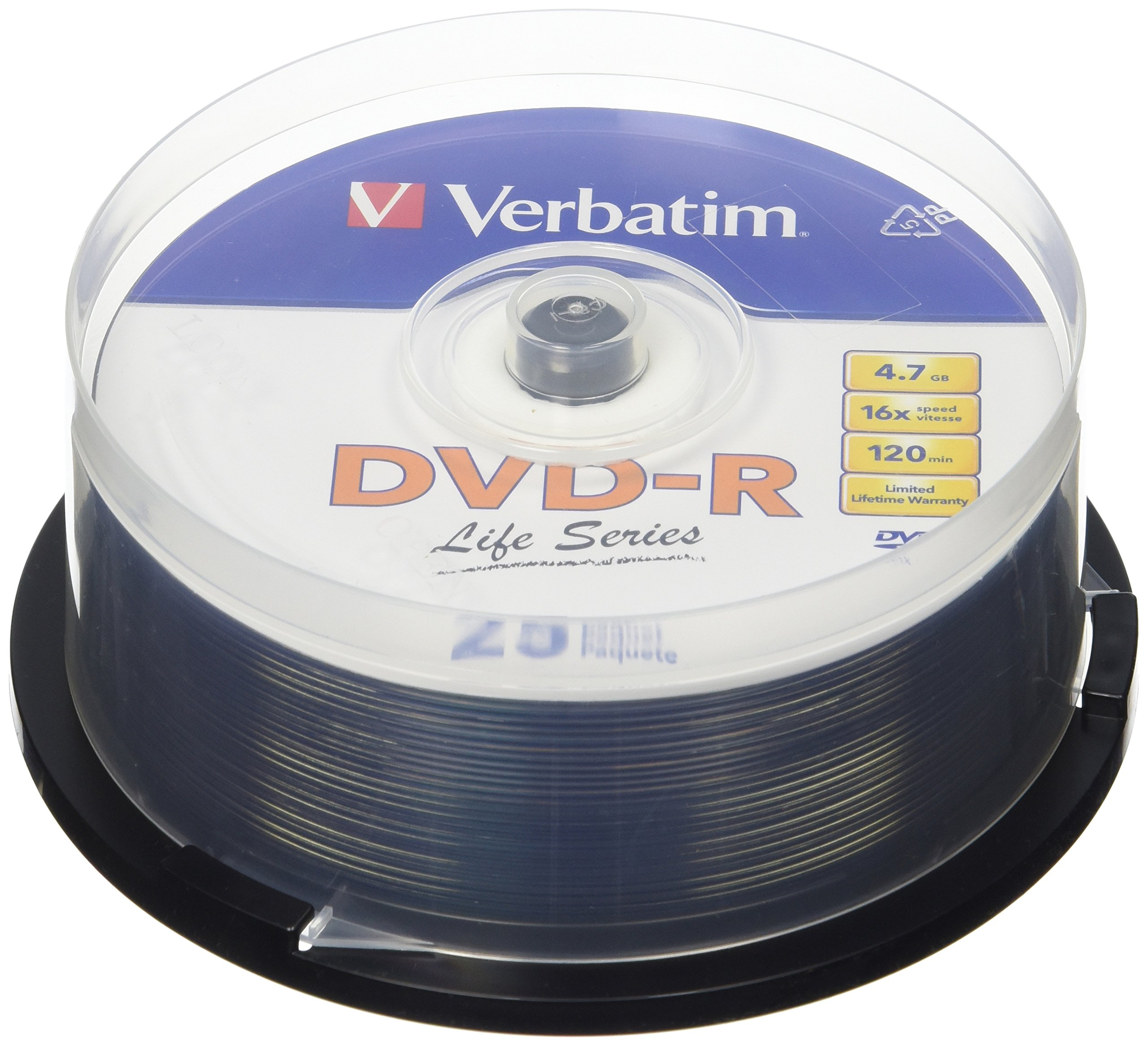 Verbatim DVD-R Disc Spindle Life Series 25-Pack 16x