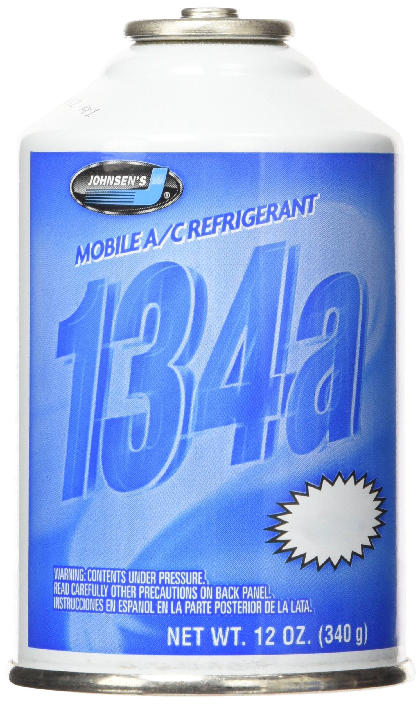 Johnsen's 6312-12PK R-134a A/C Refrigerant - 12 oz, (Pack of 12)