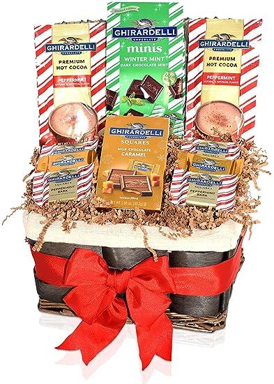 Ghirardelli Christmas Chocolate Variety Gift Basket - Ghirardelli Squares Dark Mint Minis Caramel  sc 1 st  Amazon.com & Amazon.com : Ghirardelli Christmas Chocolate Variety Gift Basket ...