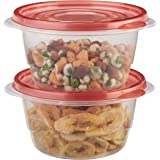 Rubbermaid TakeAlongs 3.2-Cup Small Bowls Food Storage Containers, 2-Pack, Chili Red