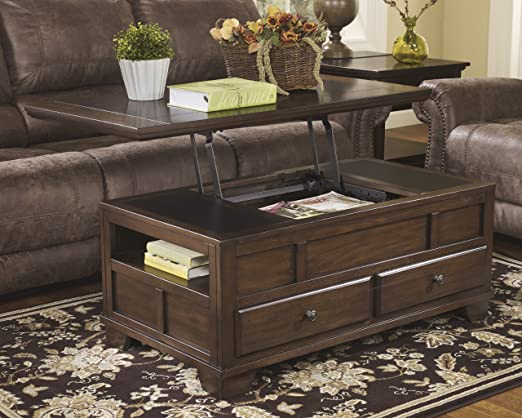Signature Design by Ashley T845-9 Gately Collection Coffee Table, Medium Brown