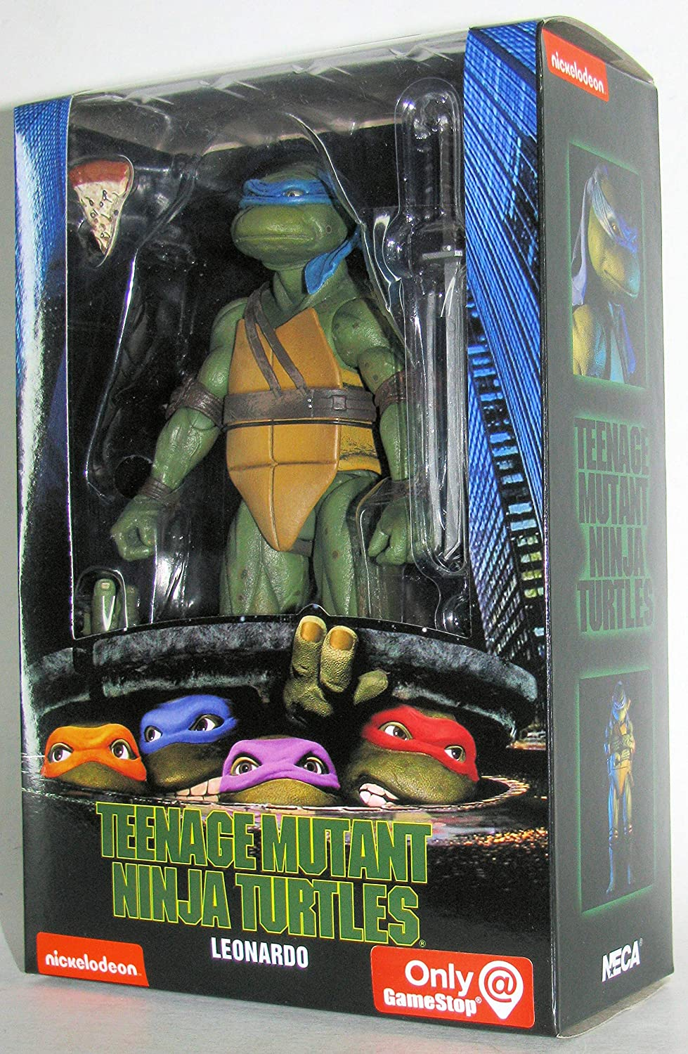 Teenage Mutant Ninja Turtles 90's Movie Leonardo 6.5-inch Action Figure by NECA Reel Toys 2019 GameStop Exclusive