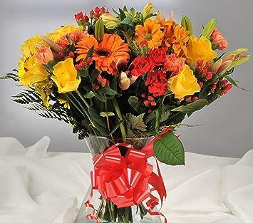 Autumnal orange yellow fresh flower bouquet with handwritten card autumnal orange yellow fresh flower bouquet with handwritten card flowers delivered free uk next mightylinksfo